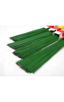 Проволока герберная, зелёная, d=1,2 мм, 40 см, 30 шт