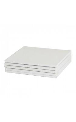 """Холст на картоне грунтованный """"Мастер-Класс"""", белый акриловый грунт, 10х10 см, 1 шт"""