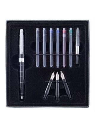 """Набор для калиграфии """"CretaColor"""", 11 предметов (1 ручка, 3 пера, 6 картриджей, поршневой механизм)"""