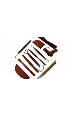 Набор для моделирования 12 шт., (стеки-петля, стеки-ребра, леска, стеки скульптурные, кисти)