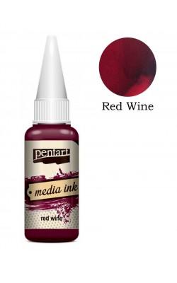 """Красящие чернила для декорирования """"Pentart"""", красное вино, 20 мл"""
