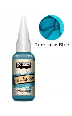 """Красящие чернила для декорирования """"Pentart"""", бирюзово-синий, 20 мл"""
