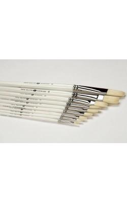 """Кисть из щетины """"Невская Палитра"""", плоская, №6 (12 мм), длинная ручка"""