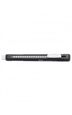 Ластик-карандаш Clic Eraser, матовый черный корпус