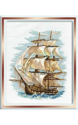 """Набор для вышивания крестом """"Корабль"""", 30*40 см"""