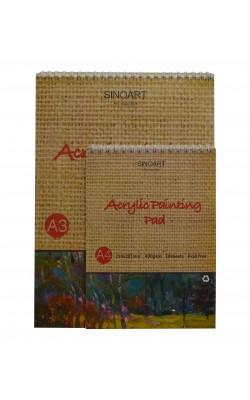 Альбом для акрила А4 Sinoart, 400г/м2, 10 листов