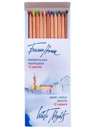 """Набор акварельных карандашей """"Белые Ночи"""", 12 цветов, в картонной коробке"""