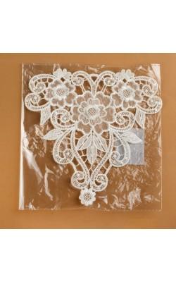 Вязаный элемент, пришивной, 19*19 см, цвет белый