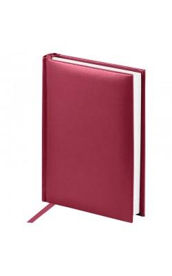 """Ежедневник недатированный, A6, 160л., балакрон, OfficeSpace """"Ariane"""", бордовый"""