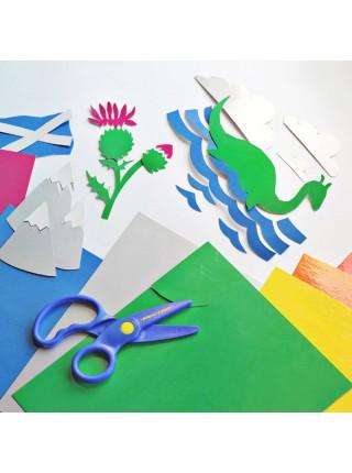 """Картон цветной """"Мульти-Пульти"""" Енот в Шотландии, А4, 10 цветов, лакированный, 10 л"""