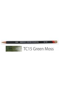 Карандаш угольный Derwent Tinted Charcoal №TC15 Зеленый мох