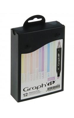Набор маркеров GRAPH'IT Pastels, 12 штук, пастельные цвета