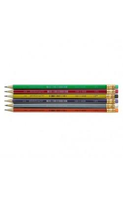 """Чернографитный карандаш """"Koh-I-Noor"""", HB, с ластиком, школьный, 1 шт"""