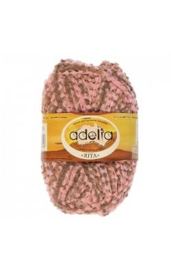 """Пряжа """"Adelia Rita"""" 100% нейлон, 145м/50гр (08 розовый-светлый коричневый)"""