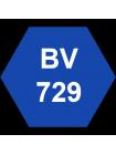 """Маркер перманентный """"MARVY"""", наконечник кисть, PRUSSIAN BLUE MAR3000/BV729"""