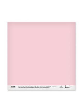"Бумага для скрапбукинга двусторонняя ""Розовая клеточка"", 30.5х30.5 см"