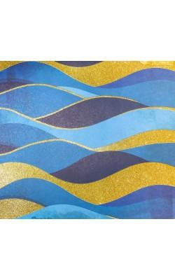 """Бумага для скрапбукинга с блестками """"Волны"""", 30,5*30,5см, 180г/м"""