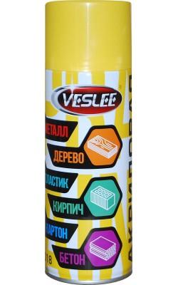 Акриловая краска VESLEE, желтый RAL 1018, 400 мл