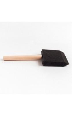 Кисть плоская, поролон, 75 мм, ручка деревянная, DK12501-75