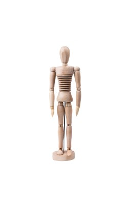 Манекен человека 30 см, мужской гибкий