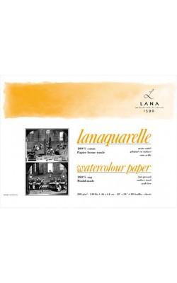 """Альбом-склейка для акварели """"LANA"""" Lanaquarelle, 100% хлопок, 26*36 см, 300 г/м2, гладкая, 20 л"""