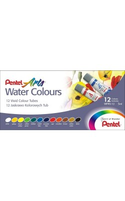 Акварель Pentel Water Colours, 12 цветов