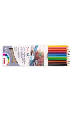"""Набор акварельных карандашей """"Pentel"""" WaterColours Pencils, 12 цветов, заточенные, картонная коробка"""