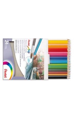 """Набор акварельных карандашей """"Pentel"""" WaterColours Pencils, 24 цвета, заточенные, картонная коробка"""