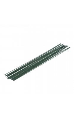 Проволока флористическая, зелёная, d=0,9, 40 см, 20 шт