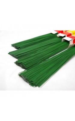 Проволока герберная, зелёная, d=0,7 мм, 40 см, 100 шт