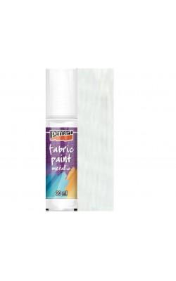 """Краска акриловая по ткани """"Pentart"""", жемчужный белый, металлик, 20 мл"""