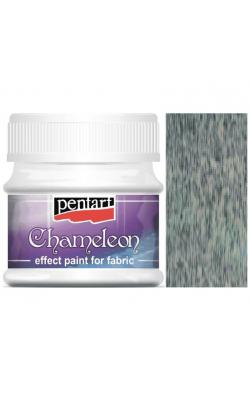 """Краска акриловая по ткани """"Pentart"""", эффект хамелеона, 50 мл, зелёный"""