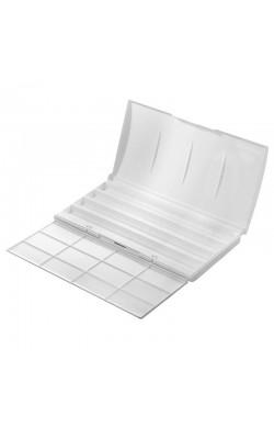 Коробка под акварель (24 и 36 шт.) с палитрой, пластик