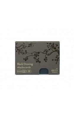 """Набор открыток """"Smiltainis"""" Haikucards Black, 14,7*10,6 см, 300 г/м2, чёрные, 24 шт"""