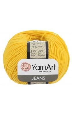 """Пряжа Yarn art """"Jeans"""" 50гр. 160м. (55%хлопок, 45%ПАК) 35 желтый"""