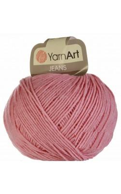 "Пряжа Yarn art ""Jeans"" 50гр. 160м. (55%хлопок, 45%ПАК) 36 светло-розовый"