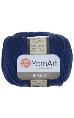 """Пряжа Yarn art """"Jeans"""" 50гр. 160м. (55%хлопок, 45%ПАК) 54 темно-синий"""