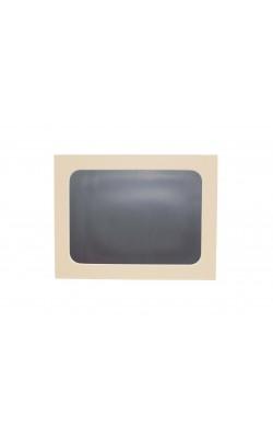 Гибкая магнитно-маркерная доска для холодильника, 33,5*25*2 см, бежевый