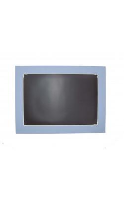 Гибкая магнитно-маркерная доска для холодильника, 33,5*25*2 см, голубой