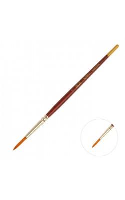 """Кисть из синтетики """"Decola"""", круглая, №7 (3,8 мм), короткая ручка"""