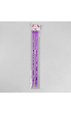 Спицы для вязания прямые, акрил, 35см d=8,0мм (2шт) МИКС