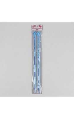Спицы для вязания прямые, акрил, 35см d=10,0мм (2шт) МИКС