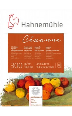 "Альбом-склейка для акварели ""Hahnemuhle"" Cezanne, 100% хлопок, 24*32 см, 300 г/м2, к/з, 10 л"