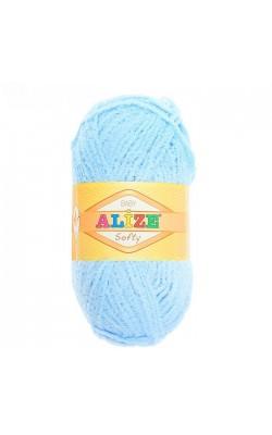 "Пряжа ""Softy"" 100% микрополиэстер 115м/50гр (40 голубой)"