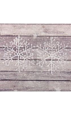 """Основа для творчества и декорирования """"Снежинка №2"""", размер 1 шт 8*8 см, набор 2 шт"""