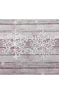"""Основа для творчества и декорирования """"Снежинка №4"""", размер 1 шт 10*10 см, набор 2 шт"""