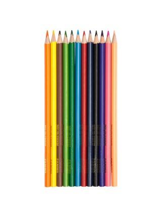 """Карандаши цветные Гамма """"Мультики"""", 12цв., трехгранные, заточенные, картон, европодвес"""