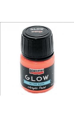 """Акриловая краска """"Pentart"""" Сияние в темноте, 30 мл, оранжевый"""