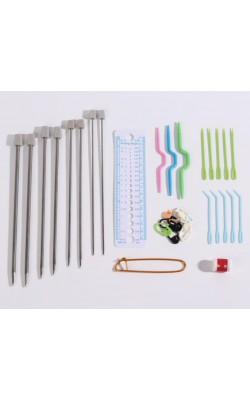 """Набор для вязания """"Шебби-шик"""", 27*8 см, 34 предмета, в пенале"""
