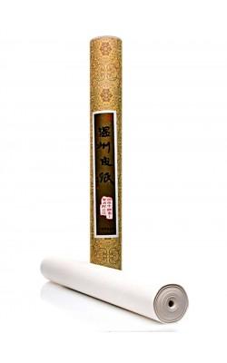 Бумагадля каллиграфии рисовая, 97*1000 см, 33 г/м2, рулон в картонном тубусе